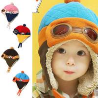 ball aviator - Cool Toddlers Baby Cap Hat Beanie Boy Girl Kids Infant Winter Pilot Aviator Warm For Freeshipping