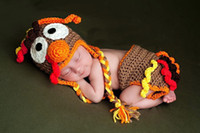 Spring / Autumn baby turkey costume - Baby crochet Turkey Hat amp Diaper Cover Set Crochet Boy Girl Costume Thanksgiving Gift handmade