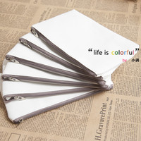 Unisex acrylic whiteboard - Blank canvas wallet day clutch thermal transfer diy bag whiteboard bag eco friendly bag