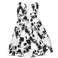 amp line - New Summer Sexy Korean Women s Casual Sleeveless Flower Mini Strapless Dress Black amp amp White