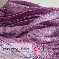 Flat Shoelaces Purple Glittering Braid Shoe laces for Sneake...