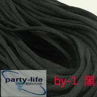 Wholesale Black half Round shoelace shoe boot Shoe string laces pairs