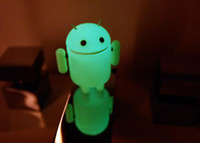 Wholesale Google Android mini collectible comiccon robot toy Luminous retail box Children s gift