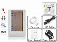 Wholesale DHL FREE E Book Readers inch TFT ebook reader mutil language With Mp3 FM GB Audio player Radio
