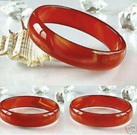 Wholesale Exquisite Jewelry Natural Red Jade Agate bangle pc