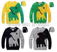 Wholesale kids boy girls long sleeve t shirt Sweater weird Elephant pattern children fleeces boy t shirt clothes