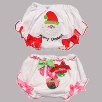 ruffle panties - Christmas ruffled panties baby girls bloomers Embroidered shorts toddler ruffle pants infant underwear month