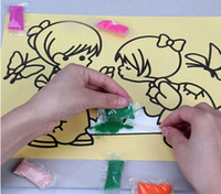 animation education - Baby Drawing Toys Learning amp Education Sand Animation DIY filling Children Kids drawing toys set for girl and Boy
