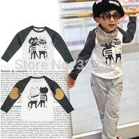 basic wear t shirt - autumn children s clothing child long sleeve T shirt basic shirt print t shirt baby wear
