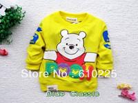 bear tee shirts - sizes color Cotton Cartoon Bear Long Sleeve Kids Tees Children T shirt Babies Tops