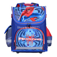 ABS big portfolio - Children School Backpack Spiderman Cars Boys School Bags Orthopedic Mochila Escolar Infantil Big Kids Cartoon Backpack Portfolio