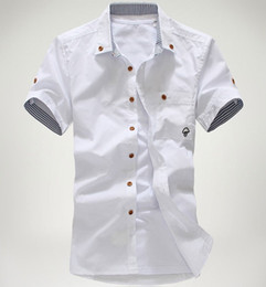 Cheap White Casual Button Down Shirt   Free Shipping White Casual ...