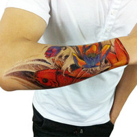 Cheap Wholesale-Men Large Temporary Tattoo Sex Products Fake Waterproof Stickers carp lotus arm Designs High Quality Body Art