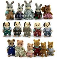 al por mayor juguetes sylvanian-Venta al por mayor-Nuevo arrivel lote 15 Sylvanian Familias perro Oso conejo ardilla serie 3 '' muñecas cifra empujar juguetes