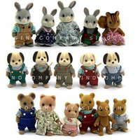 Wholesale New arrivel Sylvanian Families Dog Bear Rabbit Squirrel Series Dolls figure push toys