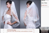 Wholesale Hot T White Wedding Veil Bridal Veil Lace With Comb Bridal Accessories Sell