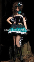 TV & Movie Costumes lady costume - Ladies Mad Hatter Fancy Dress Up Tea Party Alice In Wonderland Hens Costume