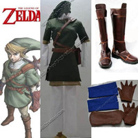 Wholesale The Legend of Zelda Link Cosplay Costume Shoes Boots Full Set customized