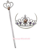 Wholesale Princess Rapunzel Bling Party Costume Tiara Crown Scepter Wand Kid Girl Accessory C290