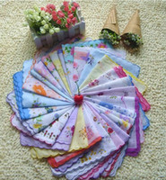 Wholesale New Pieces Cutter Ladies Craft Vintage Hanky Floral Handkerchief
