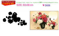 arranging pictures - D DIY Diamond painting round rhinestone pasting Flower Arranging cross stitch kit diamond paint picture room decoration cm