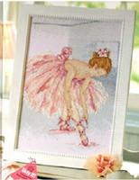ballet stitch kit - new Handmade Diy needlework set for embroidery cross stitch kit ct White Canvas Dancers Ballet Girl Human Series