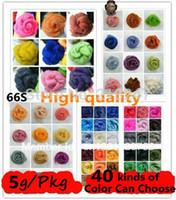 Wholesale Wool Felt Poke Poke Fun Wool Roving Fiber Needle Felting g bags Pick your own colors