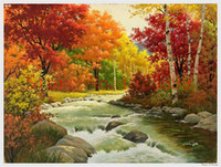 bead craft kits - Needlework diamond mosaic d diamond embroidery Autumn scenery hobbies and crafts Kits for embroidery with beads home decor