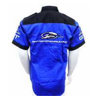 Wholesale Top quality spring summer F1 ford overalls Blue shirts short sleeves shirt f1 racing shirt driving car overalls suit free ship