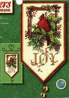 banner kit - Cotton ct Needlecrafts Counted Cross Stitch Kits Animal Cardinal Joy Mini Banner Diy Embroidery Needlework set newest
