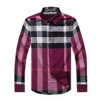 big plaid shirts - Top Quality New Men British Long Sleeve Big Plaid Shirts Designer OL Fit England Casual Shirt Tops size M XXL