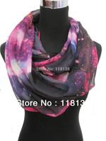 Wholesale Fashion Ladies Galaxy Star Sky Cosmic Space Print Circle Infinity Scarf