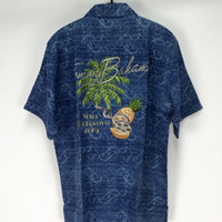 bahama m - new bahama summer silk short sleeve embroidery hawaii shirts plus size camisas masculinas S M L XL XXL