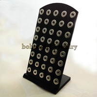 Other acylic display - Z08 Black Acylic display for snap button jewelry fit mm snap