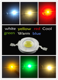 Wholesale-Free Shipping 100PCS 1W 100-120LM LED Bulb IC SMD Lamp Light Daylight white Red Blue green yellow High Power 1W LED Lamp bead