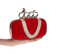 rhinestone purses - Luxury Corduroy Diamond Ring Snake Clasp Clutch Evening Bags Goldren Frame U Shape Rhinestone Rhinestone Party Purse Color