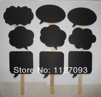 April Fool's Day Party Hot Dance Party Decorations Wholesale-New Product ! Wedding ideas photo MINI CHALKBOARD SIGNS with SKEWERS Wedding Birthday Party Favor