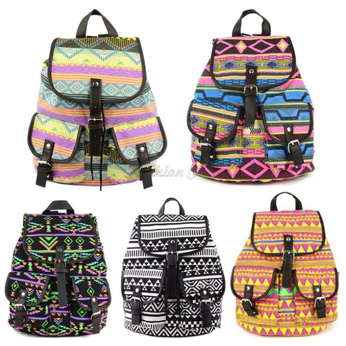 Wholesale 2015 Korean Vintage Floral Printed Backpacks For Teenage ...