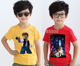 Wholesale New Summer T shirt Star Kids Shirts Star Wars Darth Vader Group Fab Short Sleeve O Neck Top Tees Children Clothing Boys Girls