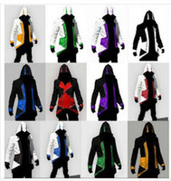 Top assassin's creed costume kids - assassins creed jacket Hoodie Conner Kenway costume anime figure assassins creed cosplay for man kid carnival assassin s creed