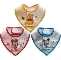 Wholesale Cartoon triangle towel cotton baby bib waterproof saliva towel triangle baby bib aprons