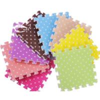 100% Wool Outdoor Adults Wholesale-4PCS set multicolor 30*30*1.5CM EVA Foam Mat for Kids Children Play Games Puzzle Mat