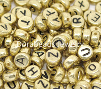 Wholesale Randomly Mixed Alphabet Letter Acrylic Spacer Beads mm B13219 seasons