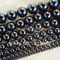 Wholesale quot Smooth Round Black Agate Onyx Beads mm Pick Siz F00061