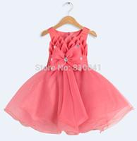 Wholesale Dress Girl Wedding Toddler Pageant Dress Infant Glitz Pageant Dresses Kids Prom Party Dress Children Evening Gown M M M M