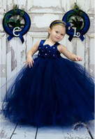 sash beautiful toddler dresses - Beautiful royal blue applique long flower girl dress party toddler ball gowns girls toddler pageant gowns flower for weddings