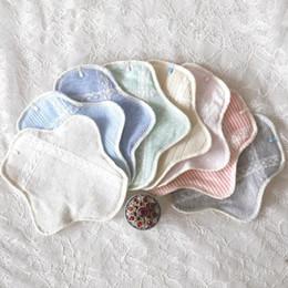 Wholesale 1 Piece Random Color Ultra thin Organic Cotton Cloth Menstrual Pad Sanitary Napkin Reusable Washable Maternity Pads YT0094
