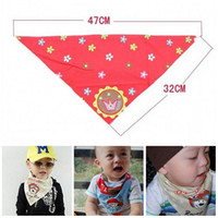 bib baby triangular scarf - new year cotton baby Slobber towels lovely baby Triangular bandage fashion scarves bibs designs available