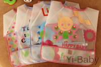 baby bibs waterproof backing - Pieces Set YB0004 New Baby Toddler Coverall Bib Apron With Cute Animals And Waterproof Backing chidren s apron