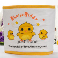 baby stomach - Warm Belly Bibs Lovely Cute Warm Baby Infants Stomach Belly Band Yellow Duck Pattern Soft Cotton